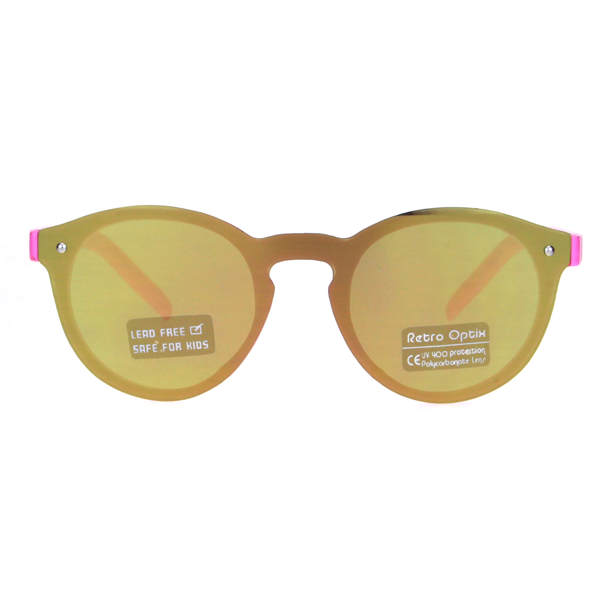 1af272963c SA106 - Kids Size Unisex Round Keyhole Thin Horn Rim Hipster Sunglasses  Navy Blue Mirror - Walmart.com