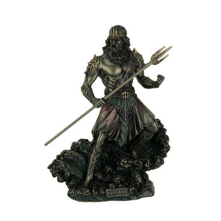 Metallic Bronze Finish Greek God Poseidon Statue - image 3 of 3