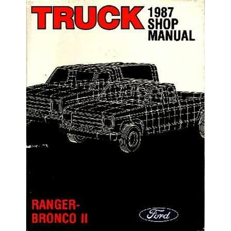 Bishko OEM Repair Maintenance Shop Manual Bound for Ford Truck Bronco II, Ranger 1987 ()