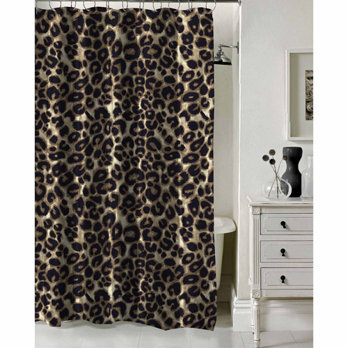"Formula Brushstroke Cheetah Shower Curtain, 70"" x 72"""