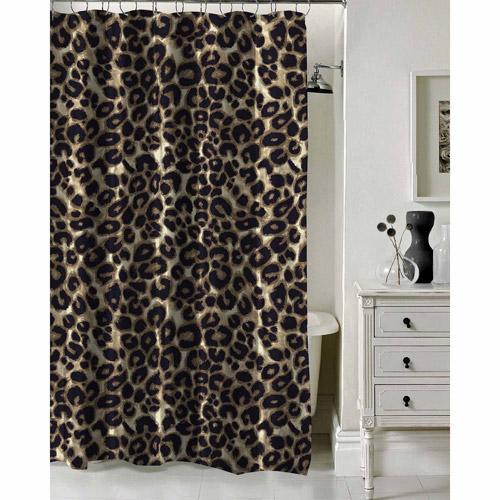 Attractive Formula Brushstroke Cheetah Shower Curtain, ...