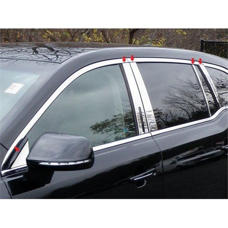 Stainless Steel Pillar Post Trim for 10-17 LINCOLN MKT-4DR, CROSSOVER