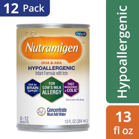 Nutramigen Hypoallergenic Baby Formula (12 Cans) - Concentrate Liquid, 13 fl oz Cans