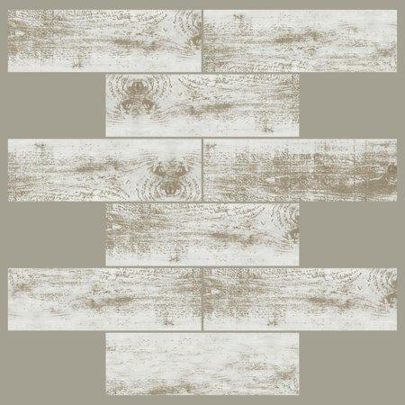 Discount Bathroom Tiles - DISTRESSED WOOD Peel & Stick KITCHEN BATHROOM Backsplashes Subway Tiles RV Camper 4 sheets 10.5