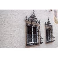 Canvas Print Old Window Grilles Window Grate Grating Stretched Canvas 10 x 14