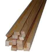 Alexandria Moulding L238A-20096C1 Square Solid Pine Molding, 1.06 in. x 8 ft. - Pack of 4