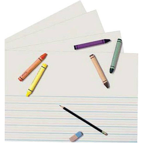 """School Specialty Picture Story Zaner Bloser Style Paper, 18"""" x 12"""", Pack of 250, White"""