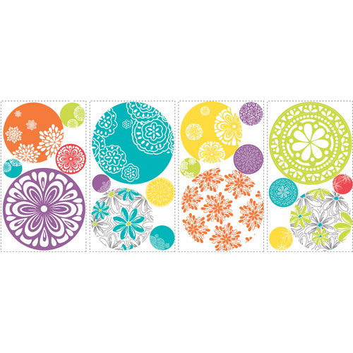 York Wallcoverings 12440800 Sesame Street Polka Dot Faces Wall Sticker Set 27pc Decals