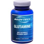 BodyTech LGlutamine (freeform amino acid) 500 MG  AntiCatabolic Recovery Agent, Also Supports Immune Function (100 Capsules)