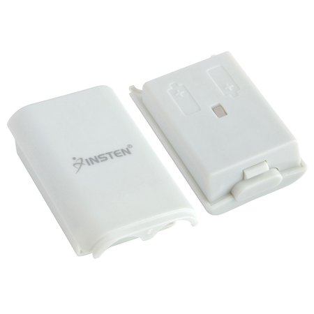 Insten 3x Battery Pack Cover Shell for Xbox 360 Game Controller (Wired Xbox 360 Controller White)