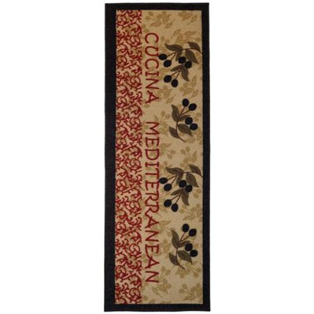 Italian Kitchen Olive Garden Non Slip Kitchen Runner Rubber Back Rug 1 39 8 X 4 39 11