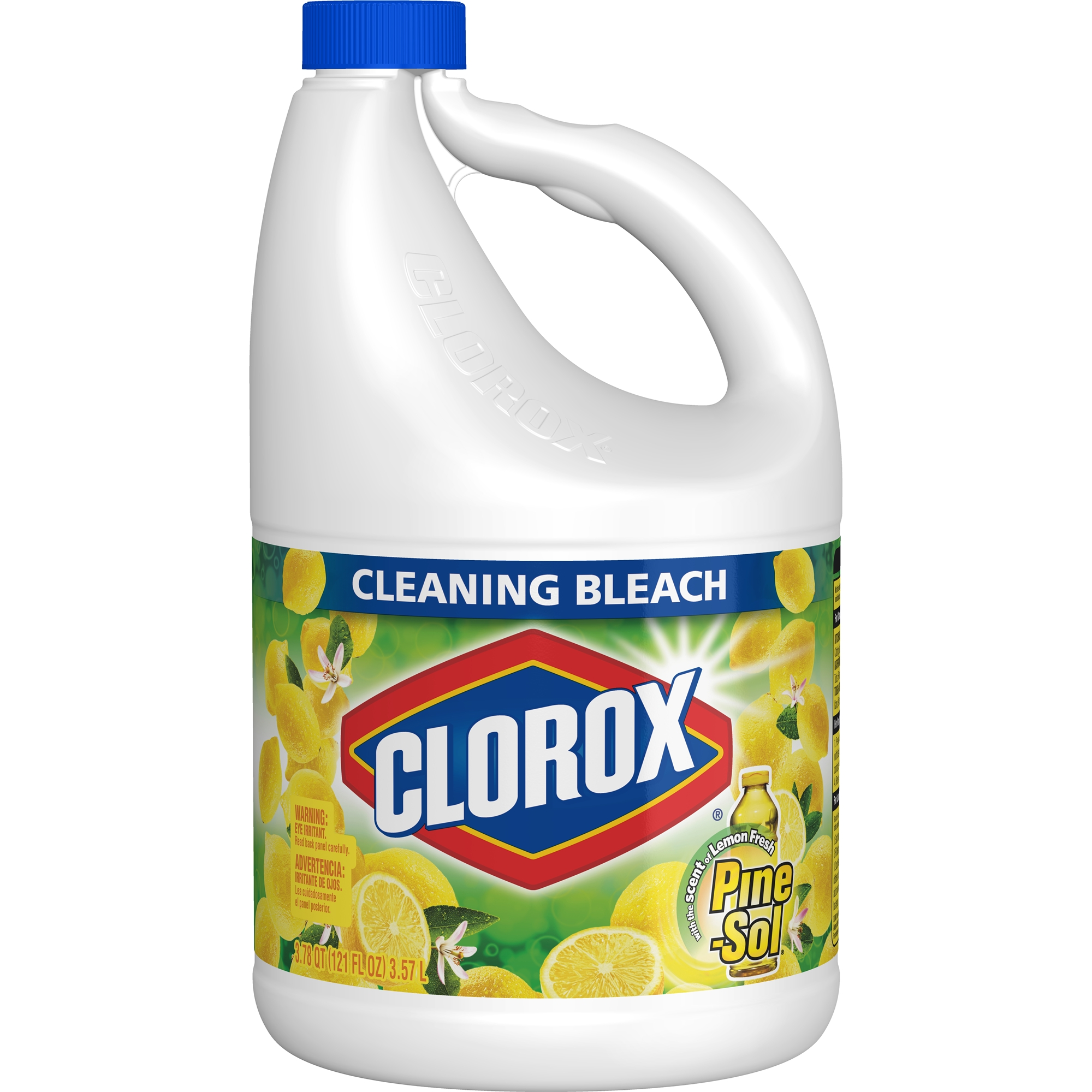 Clorox Cleaning Bleach, Lemon Fresh Pine-Sol Scent, 121 oz