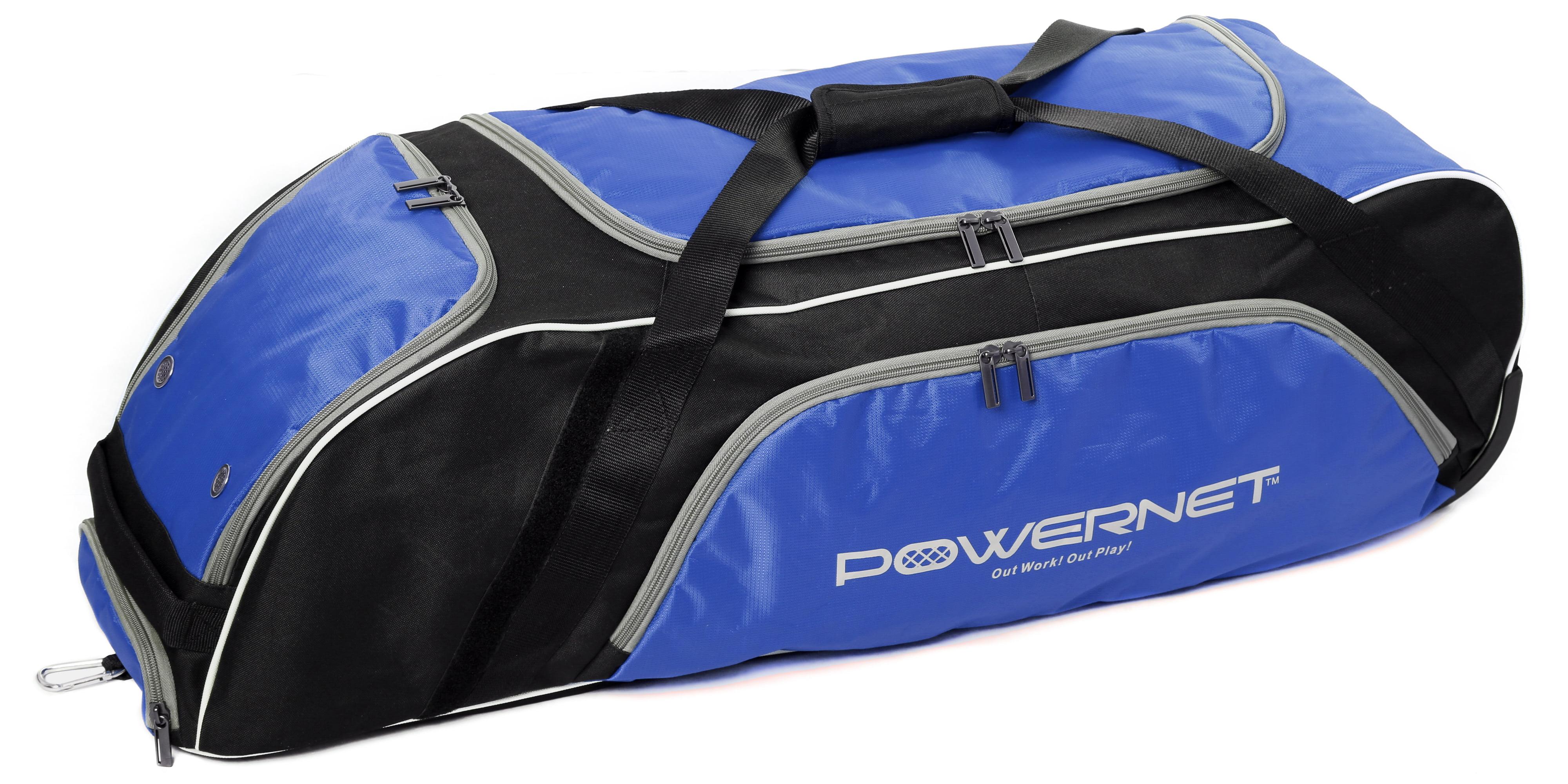 PowerNet Baseball Softball Wheeled Equipment Bag BLUE by