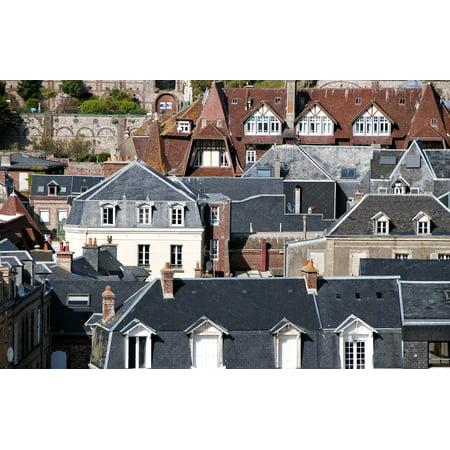 Framed Art for Your Wall Etretat Window Slate House City Roof France 10x13 Frame