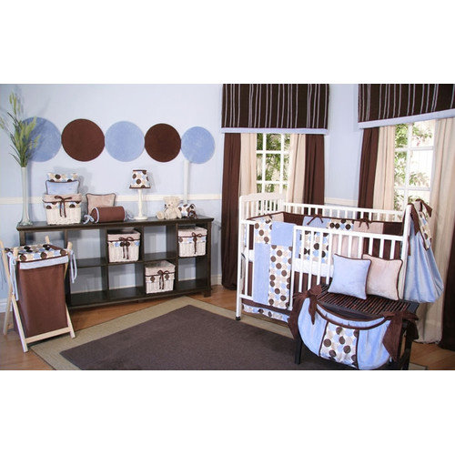 Brandee Danielle Minky Dot 4 Piece Crib Bedding Set