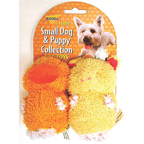 BOODA Pet Products Terry Duck/Pig Dog Toy (2 Pack) (Set of 2)