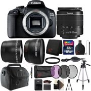 Canon EOS 2000D / Rebel T7 24.1MP Wi-Fi Digital SLR Camera with 18-55mm Lens and 16GB Accessory Bundle