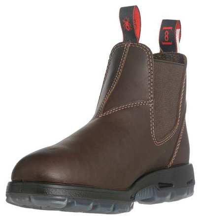 Redback Boots Size 9-1/2 Steel Toe Work Boots, Unisex, Dark Brown, EE, USNPU