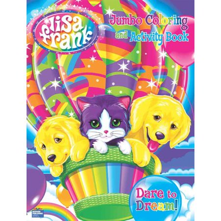 lisa frank jumbo coloring and activity book