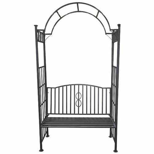 DC America Toscana Bench Arbor with Arch Style Top, Bronze