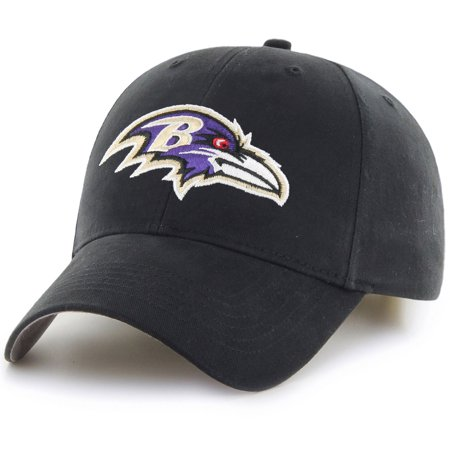 Men's Fan Favorite Black Baltimore Ravens Mass Basic Adjustable Hat - - Baltimore Ravens Santa Hat