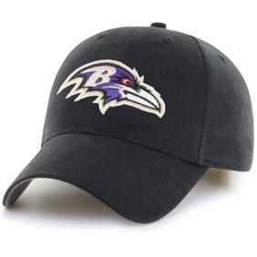 c36944369 Men's Fan Favorite Black Baltimore Ravens Mass Basic Adjustable Hat - OSFA