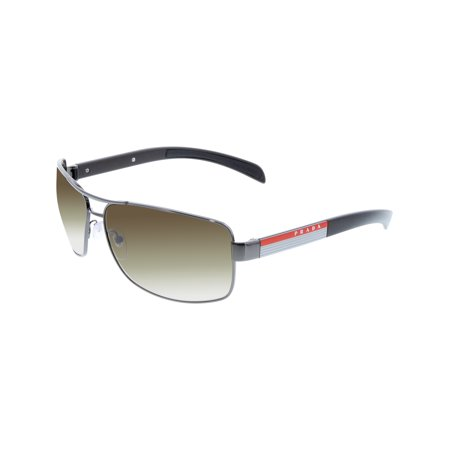 Prada Men's Gradient PS54IS-5AV6S1-65 Gunmetal Rectangle Sunglasses ()