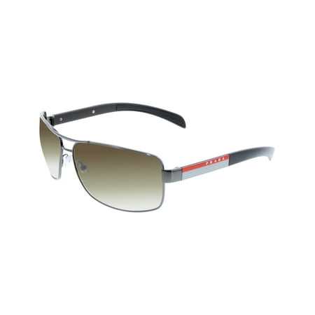 Prada Men's Gradient PS54IS-5AV6S1-65 Gunmetal Rectangle (Rectangle Sunglasses)