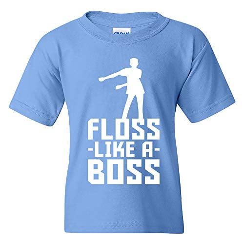 Kids Floss Like A Boss Girl Retro Bold Colours T-Shirt Girls Dance Gamer Tee Top