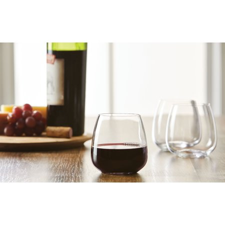 Better Homes & Gardens 13.5 Ounce Cielo Stemless Wine Glasses, 4 Count ()
