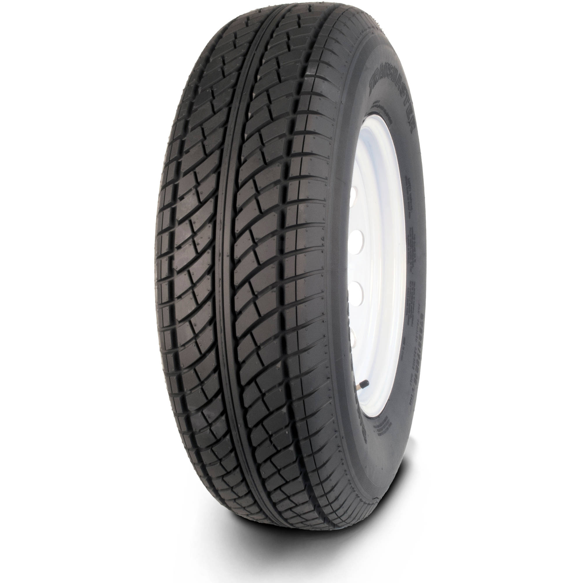Greenball Transmaster ST185/80R13 6 Ply Radial Trailer Tire and Wheel Assembly, 5 Lug