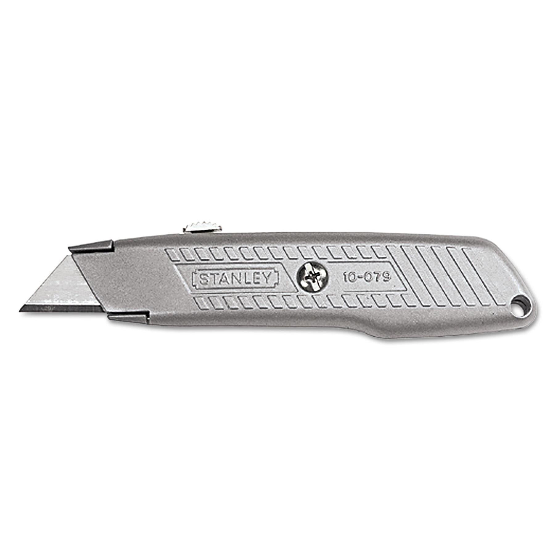Stanley Tools Interlock Retractable Utility Knife, Metal