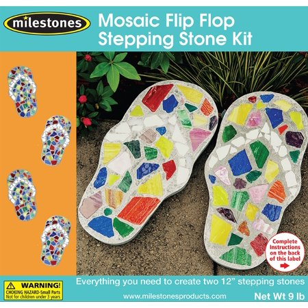 Swell Milestones Mosaic Flip Flop Stepping Stone Kit Ibusinesslaw Wood Chair Design Ideas Ibusinesslaworg
