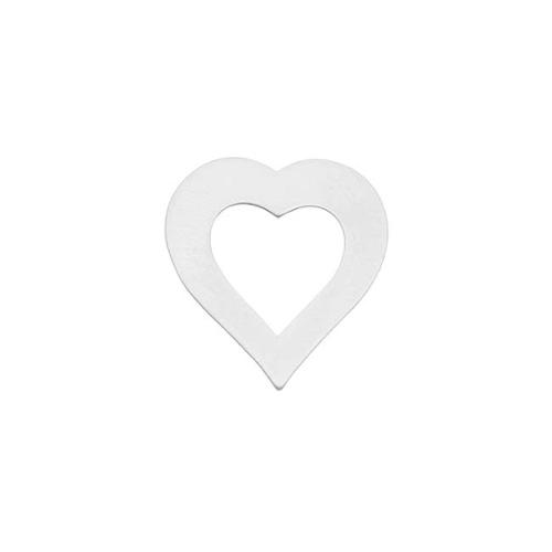 Silver Filled Blank Stamping 'Hollow Heart' 21.5x19.5mm (1)