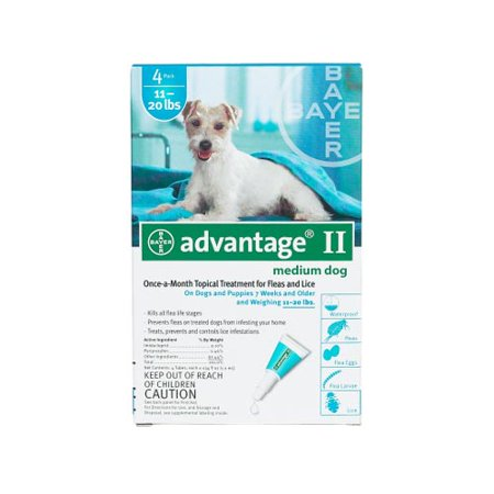 Advantage Ii Topical Flea Monthly Treatment For Medium Dogs  4 Treatments