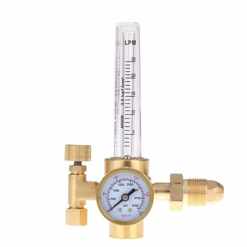 Industrial Argon CO2 MIG Welding Regulator Dual Gauge 4000PSI with 6/' Gas Hose