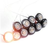 Dream Lighting 12V LED Eyeball Step Light/Courtesy Light/Side Marker Light for RV,Trailer,Camper,Boat,Yacht,Amber,10-Pack