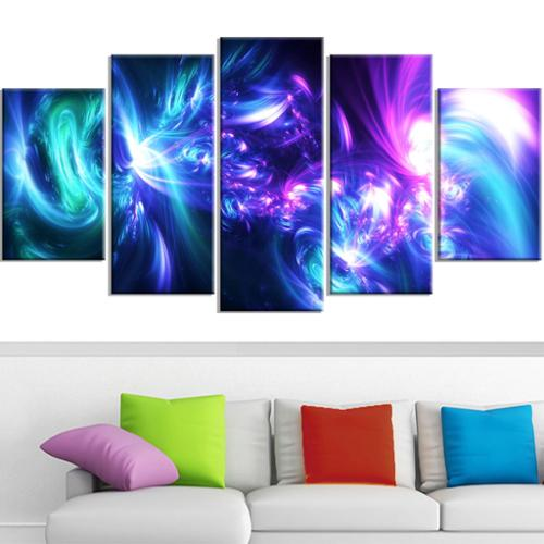 DESIGN ART  'Bursts of Light' Contemporary Canvas Art Oversized