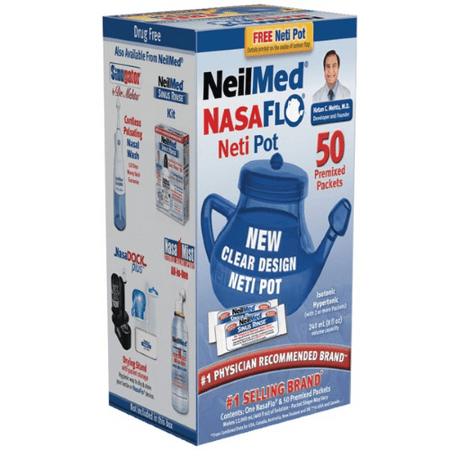 Nasaflo Neti Pot Nasal Wash, 50 ct