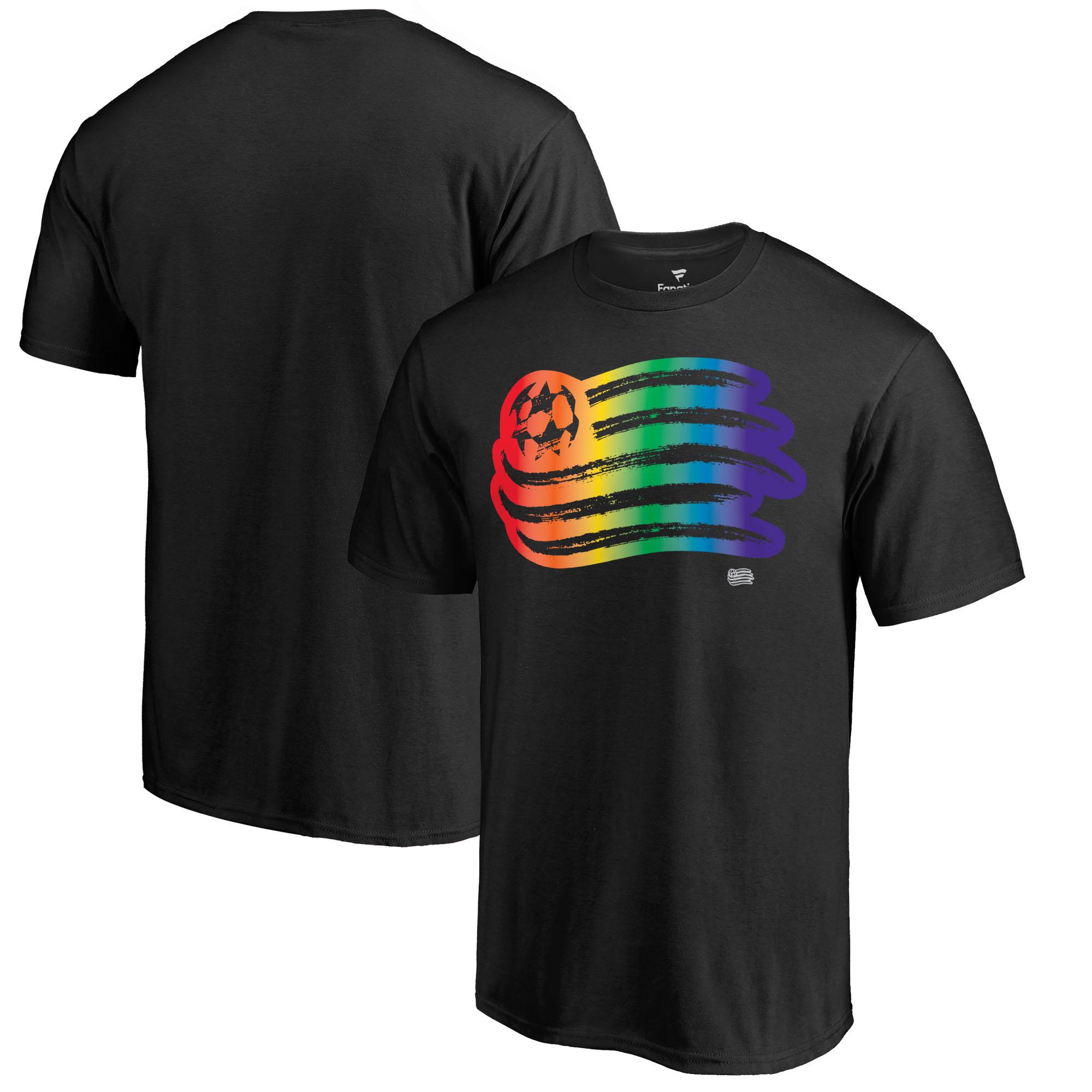 New England Revolution Fanatics Branded Team Pride T-Shirt - Black
