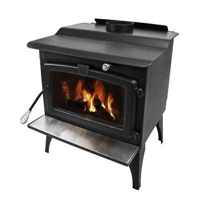 Pleasant Hearth Wood Stove with Blower & Ceramic Glass Window
