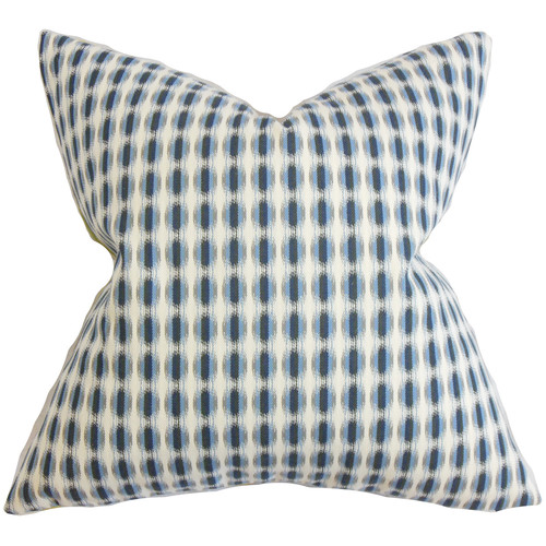 The Pillow Collection Italo Geometric Cotton Throw Pillow