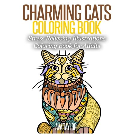 Charming Cats Coloring Book: Stress Relieving Illustrations Coloring Book for Adults (Paperback)