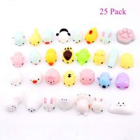 Magik 25~100 Pack Squishy Lot Slow Rising fidget toy Kawaii Cute Mini Animal Hand Toys (25 Pack)