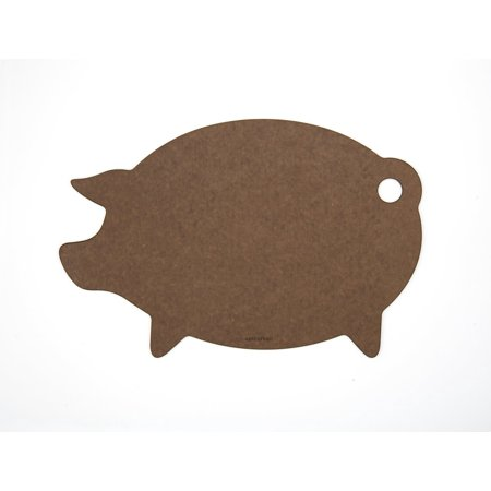 Cutting Surfaces Novelty Series Cutting Board, Pig, Nutmeg, Novelty board shaped like a pig; measures 16 x 11 x .25 Inch; nutmeg/natural core By Epicurean 2.5 Core Series
