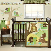 Bedtime Originals - Honey Bear 3pc Crib Bedding Set - Value Bundle