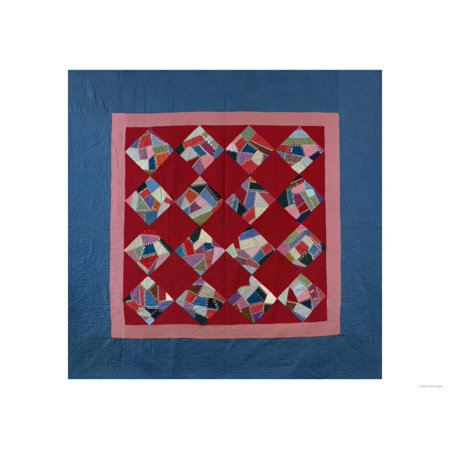 An Amish Crazy Quilt Pattern Coverlet.