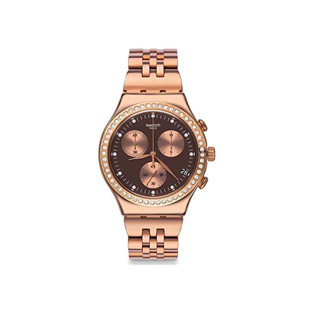 Swatch Precious Rose Chronograph Stainless Steel Ladies' Watch, YCG414G by Swatch