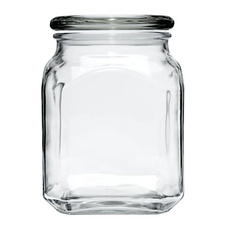 Anchor Hocking Glass Emma Jar with Lid, 2 Piece