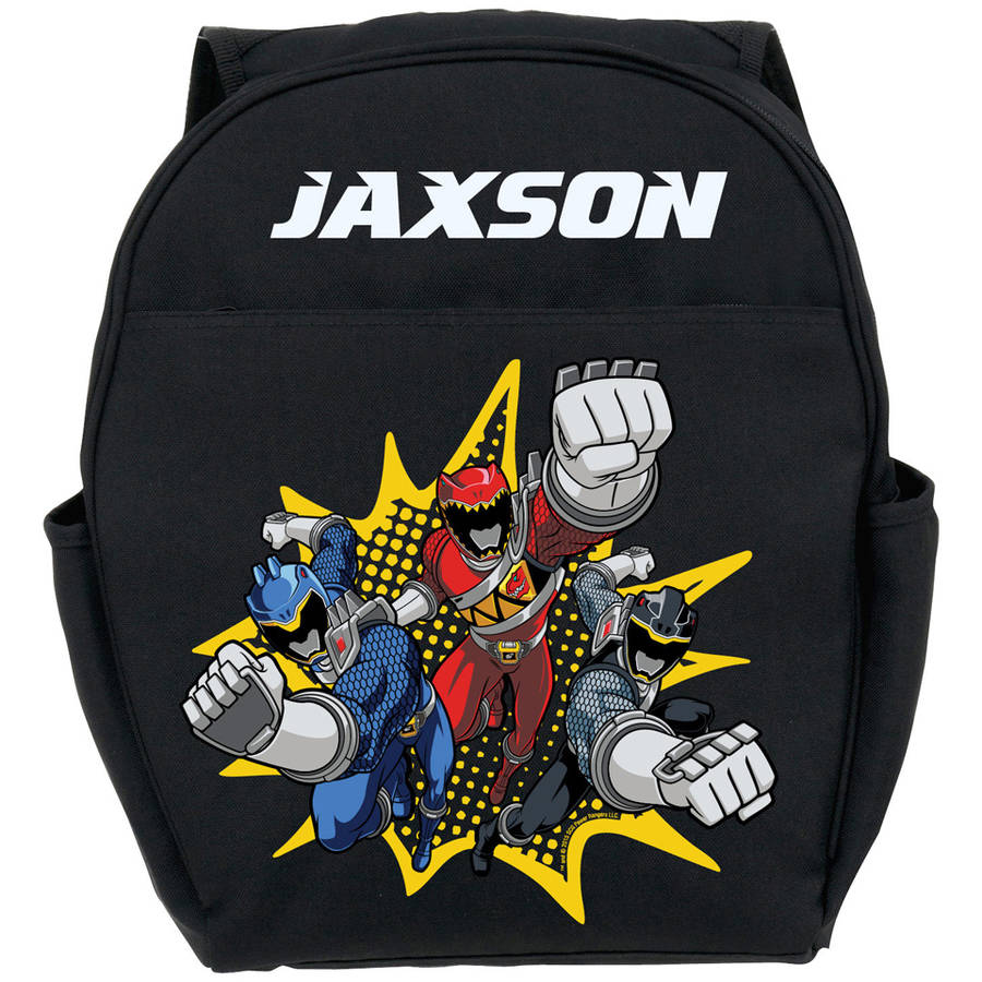 Personalized Power Rangers Dino Charge Black Toddler Backpack
